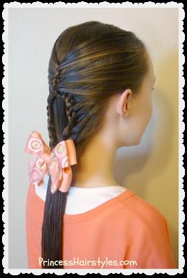 Cute hairstyle, the teardrop mermaid braid tutorial
