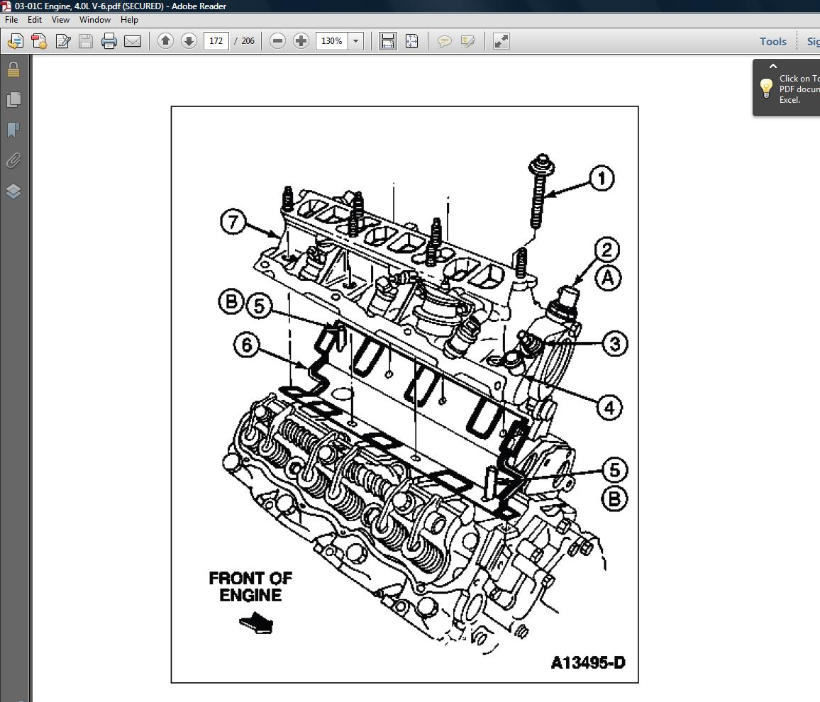 Ford 40 Liter Engine Diagram Archive Of Automotive Wiring Fuse Box 2000 Mitsubishi Galant Repair Station Ranger 1993 94 95 96 97 2 3l 3 0l 4
