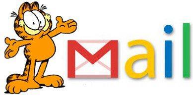 Гарфілд, персонаж мультфільму пропонував послугу електронної пошти на ім'я GMail.com