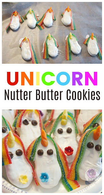 How to Make Adorable Unicorn Cookies from Nutter Butters