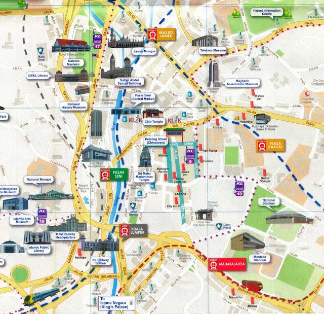 Kuala Lumpur travel map