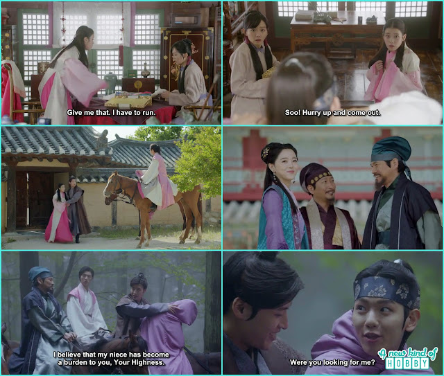 all prince help hae soo to run away and disguise 10th prince as hae soo on 8th Prince horse- Moon Lovers Scarlet Heart Ryeo - Episode 6 Review