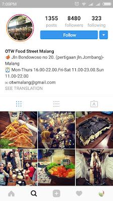 OTW Food Street Malang