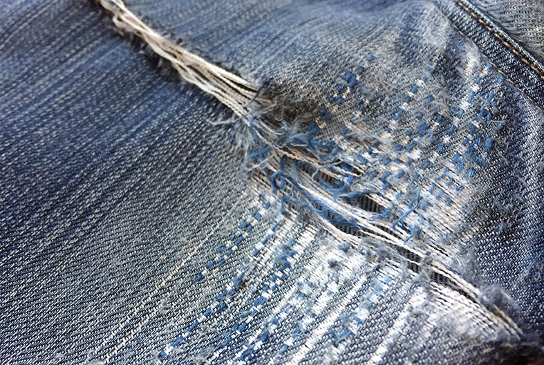 One woman's personal challenge to see how long she can go without buying new clothes by mending, making and thrifting.