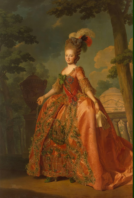 Portrait of Grand Duchess Maria Fiodorovna by Alexander Roslin - Portrait Paintings from Hermitage Museum