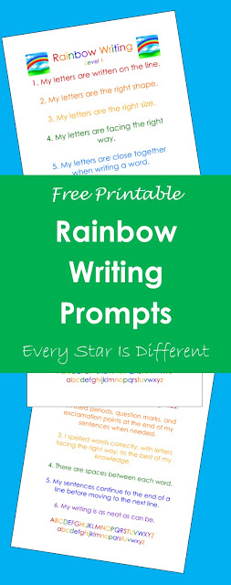 Rainbow Writing Prompts (Free Printable)