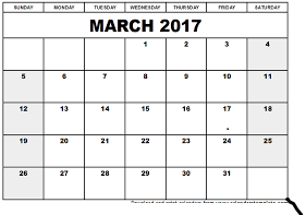 March  2017 holidays calendar, March 2017  blank calendars, March 2017 calendar  templates, March 2017 Calendar Printable, March 2017 Calender, March 2017 templates,