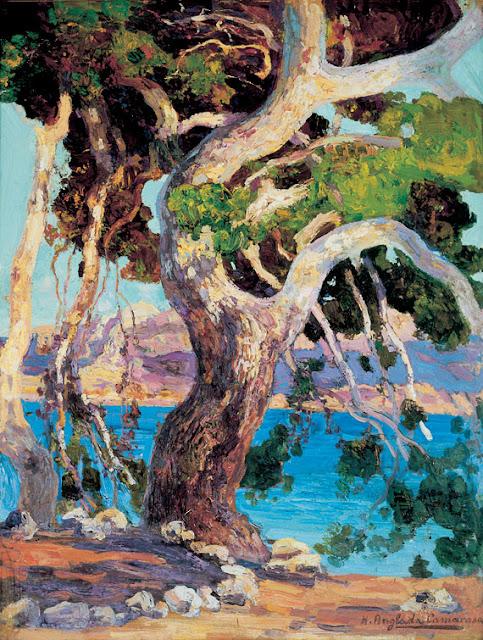 Hermen Anglada Camarasa, Pi de Formentor,  Mallorca en Pintura, Mallorca pintada, Paisajes de Mallorca