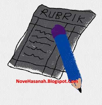 contoh rubrik penilaian karangan paragraf deskriptif siswa pada mata pelajaran Bahasa Indonesia