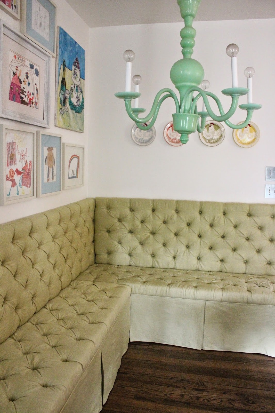 Back On Festive Road Diy Tufted Banquette Tutorial