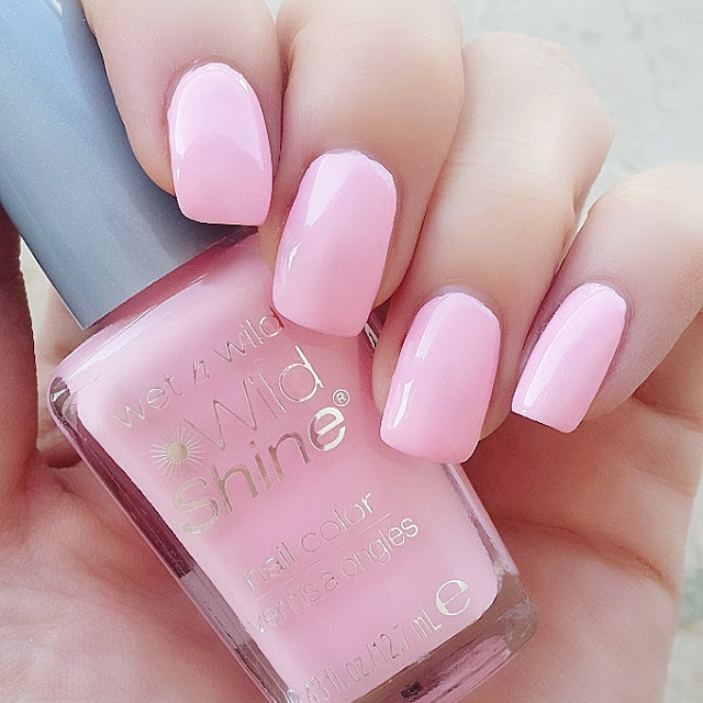 Wet n Wild Shine E402 Tickled Pink Oje