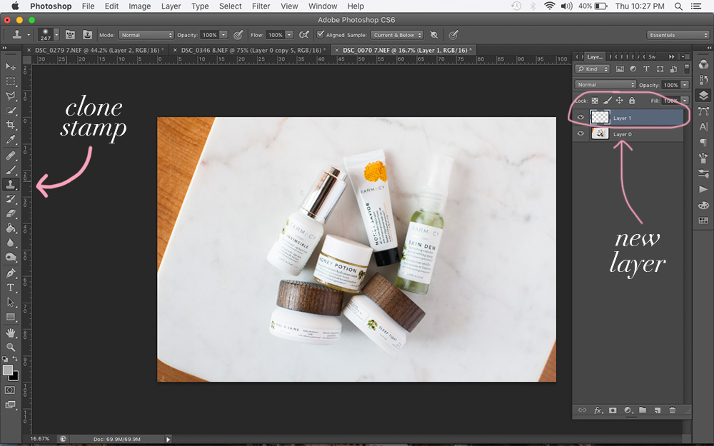 how to use clone stamp, photoshop for bloggers