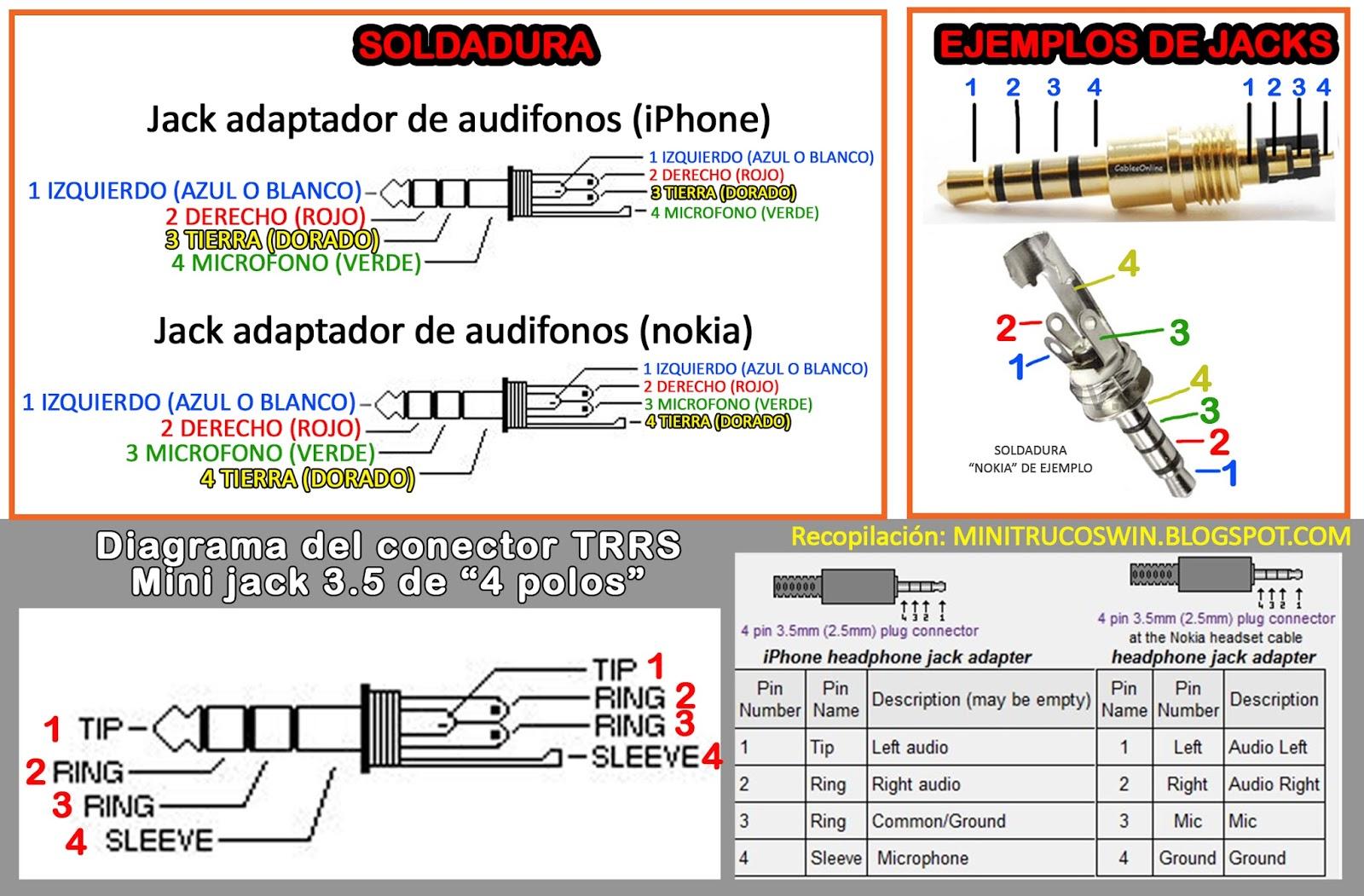 Trrs To Trs Wiring Diagram Msd Digital 6al Minitrucoswin Como Reparar Audifonos Cambiar Mini