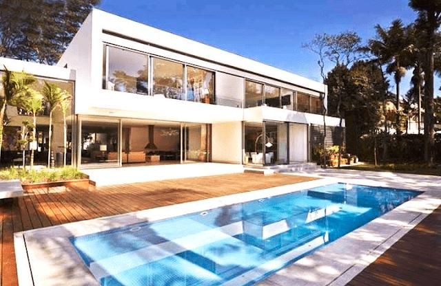 Desain Rumah Mewah 2 Lantai Dengan Kolam Renang