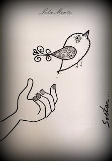 soltar, soltar emociones, ilustraciones lola mento, LOLAMENTO, pajaro volando, cuadros decorativos