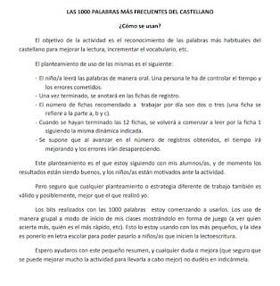 LAS 1000 PALABRAS MÁS FRECUENTES DEL CASTELLANO