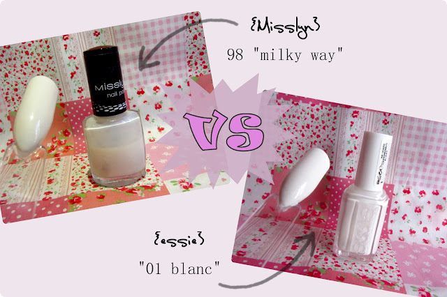 Beauty Battle essie BLANC vs Misslyn MILKY WAY
