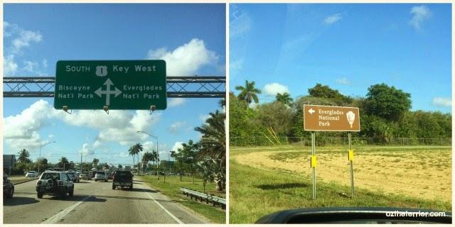 road signage for Everglades National Park