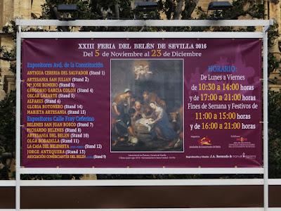 XXIII FERIA DEL BELÉN - SEVILLA 2016  - Panel Informativo