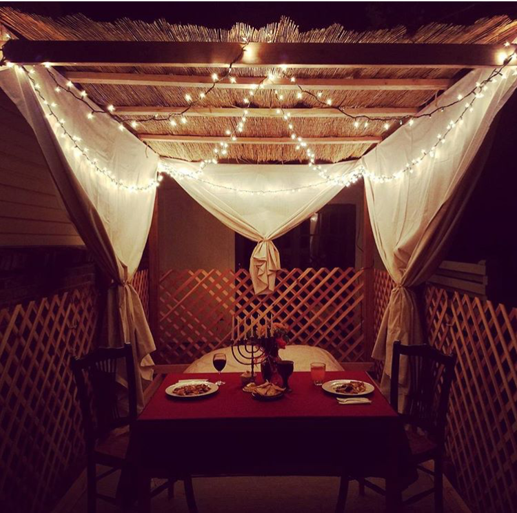 Dinner in the sukkah | Land of Honey