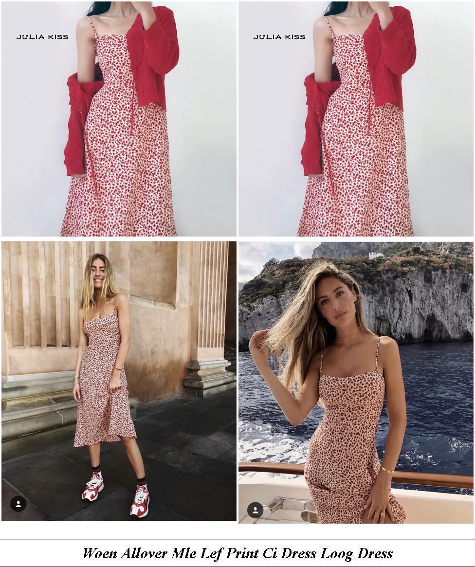 Evening Dresses - Sale On Brands - Polka Dot Dress - Cheap Womens Clothes