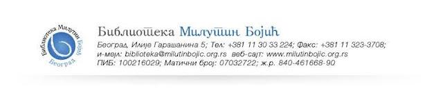 "Biblioteka ""Milutin Bojić"""