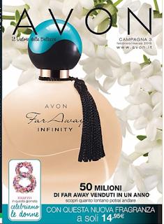 Far Away Infinity disponibile nel Catalogo Avon della Campagna 3! Catalogo Avon Shop e ordini Online. Presentatrice Avon. Scopri come ordinare,  acquistare e comprare Avon.  Spedizione GRATIS a partire di 35€ di ordine! Guarda le prossime date di ordinazione e spedizione della campagna in corso.