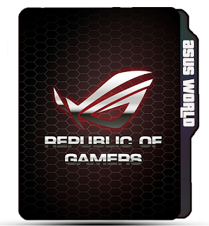 Asus Logo folder icon, brand icons, Asus Republic of Gamers Logo, Asus Official folder icon.