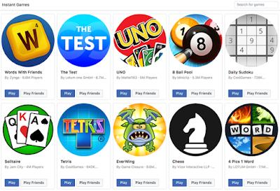Aplikasi Game Gratis Facebook dan Game Messenger Terbaik