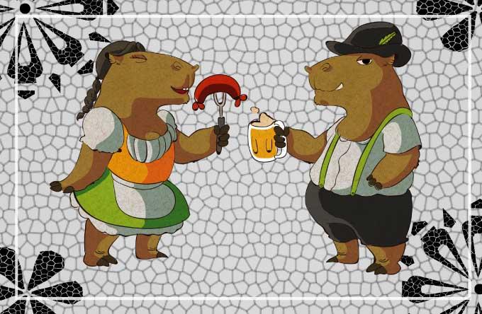 ... foram criadas duas capivarinhas dançantes que podem invadir o celular  dos curitibanos. Mais informações no  facebook.com OktoberfestCuritibaOficial. 975608133d