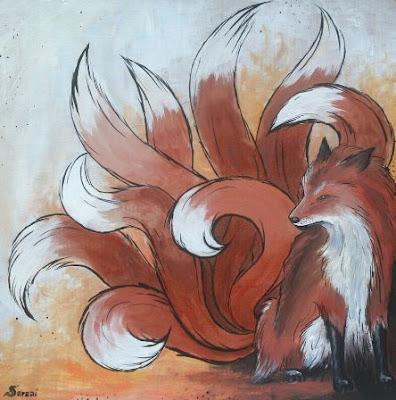 Kitsune, zorro de nueve colas