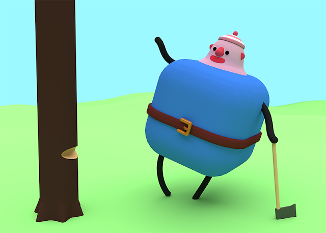 Character from the Library Quest game