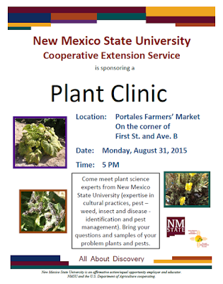 Image of advertising flyer for the Portales Plant Clinic