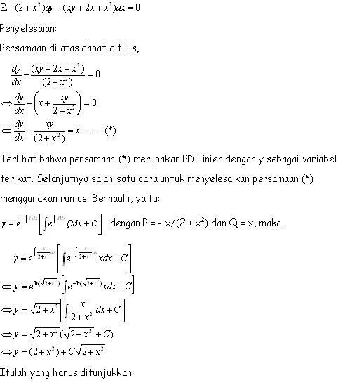 Belajar Dan Belajar Disaat Luang Penyelesaian Soal Uts Kalkulus Iv