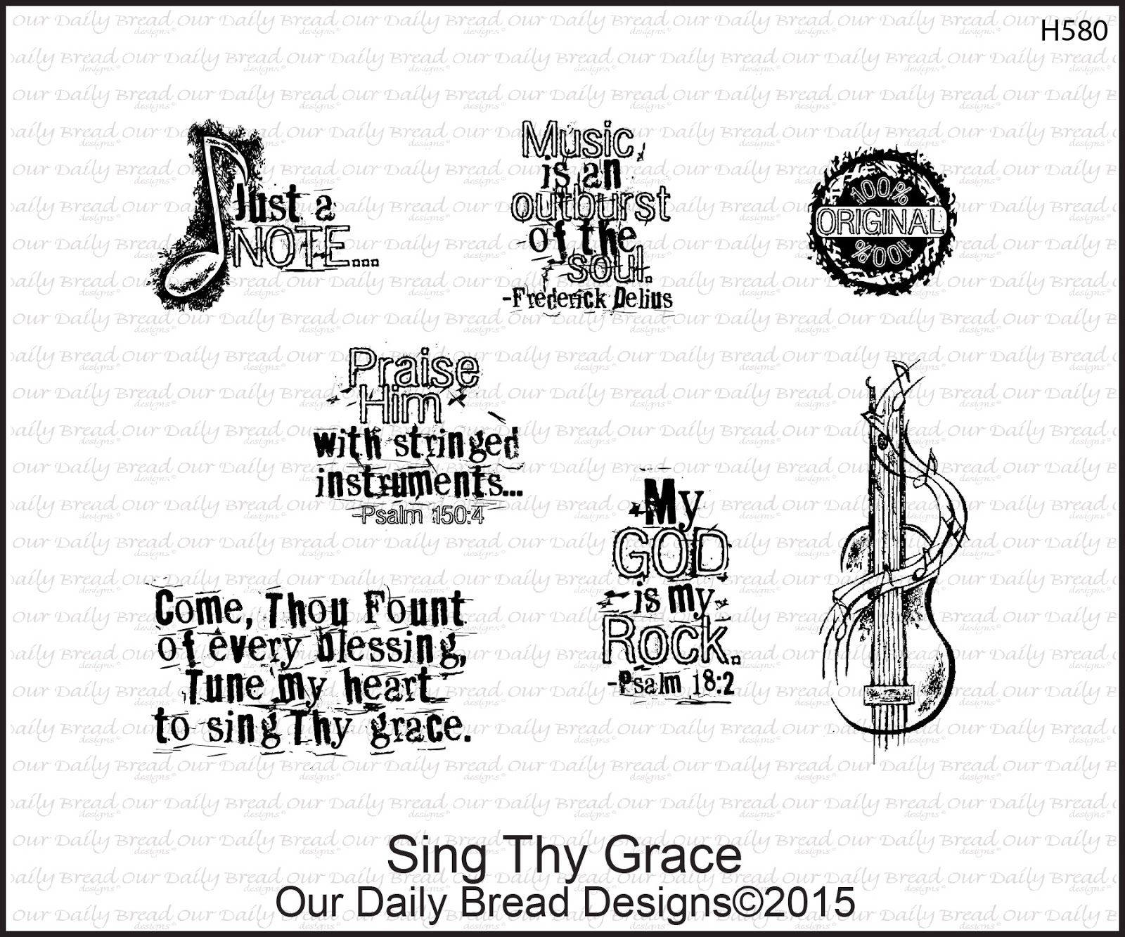 Stamps - Our Daily Bread Designs Sing Thy Grace