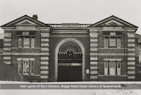 Main gates of No.1 Division, Boggo Road Gaol, Brisbane, undated.