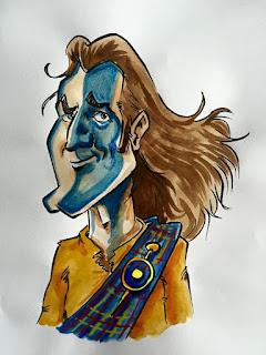 Un des personnages non retenu pour un nouveau pub écossais angevin. ©Guillaume Néel
