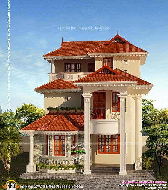 Small plot 3 storied house