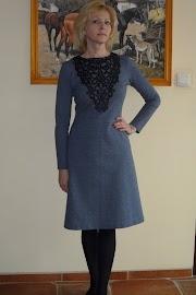 Sukienka z punto milano ala jeans.