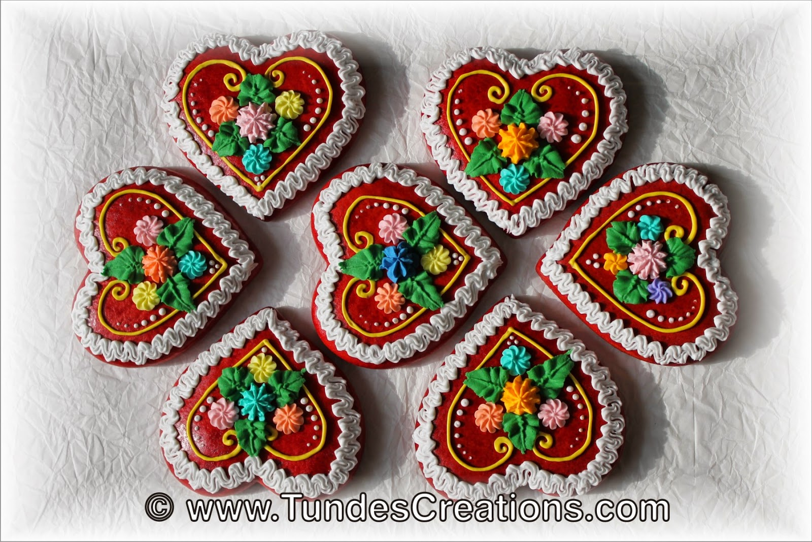 Red Gingerbread Heart 3