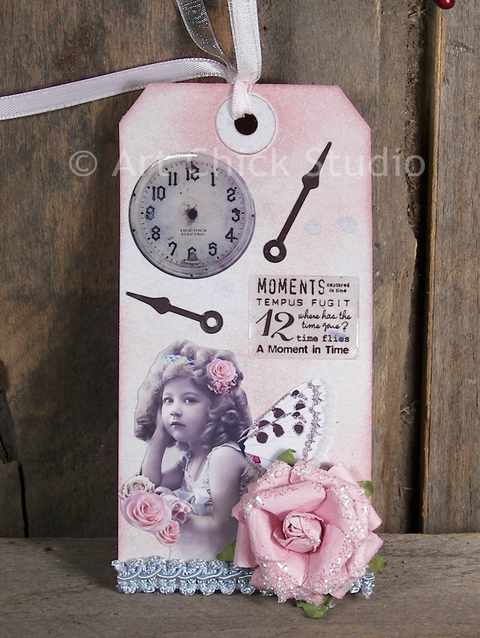 Moments Shabby Chic Altered Tag