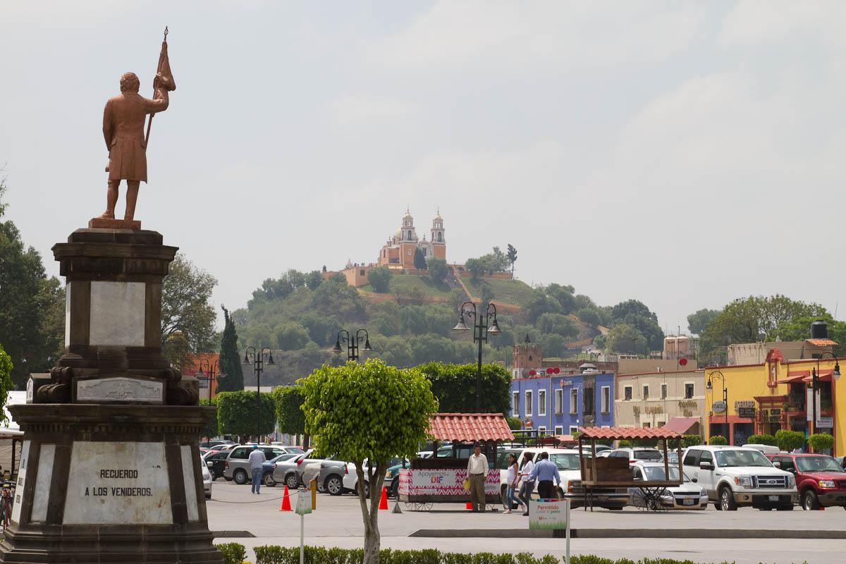 Vista del zócalo de San Pedro Cholula