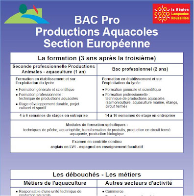 best loved e94be 60d05 Pour plus d informations, cliquer BAC Pro Productions Aquacoles Section  Européenne