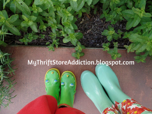 Fun gardening boots