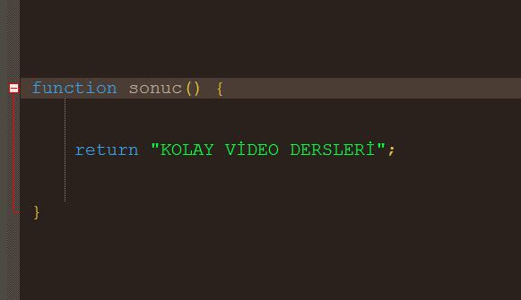 javascript function detaylı anlatım