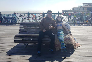 Hastings Pier Yarn Bomb