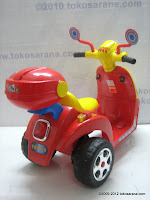 4 Junior TR0903 Skupi Battery-powered Toy Motorcycle in Red 4
