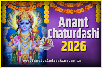 2026 Anant Chaturdashi Pooja Date and Time, 2026 Anant Chaturdashi Calendar