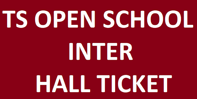 Telangana Open School Inter Hall Ticket