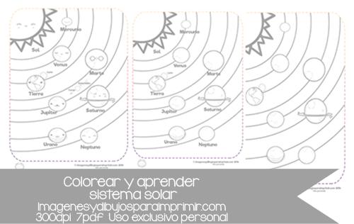 Dibujos Para Colorear Del Sistema Solar: Imagenes Y Dibujos Para Imprimir